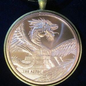 The Aztec Dragon Quetzalcoatl RattleSnake Necklace